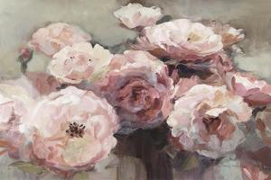 Wild Roses Neutral by Marilyn Hageman