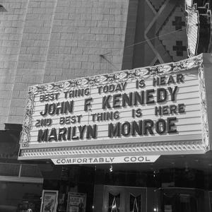 Marilyn Monroe and John F, Kennedy