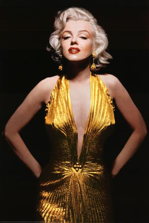 Marilyn Monroe (Gold Dress, Tinted) Movie Poster Print