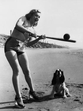 Marilyn Monroe Playing Softball