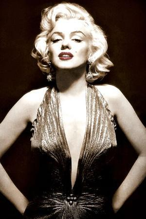 Marilyn Monroe- Poised in Sepia