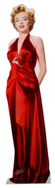 Marilyn Monroe - Red Gown Lifesize Cardboard Cutout