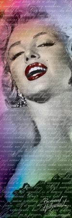 Marilyn Monroe- Text Slim Poster