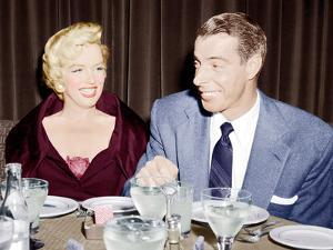 Marilyn Monroe with her second husband, Joe DiMaggio, 1954