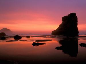 Oregon Coast at Sunset, USA by Marilyn Parver