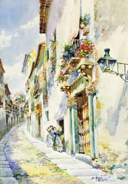 A Street Scene, Toledo by Marin Higuero Enrique