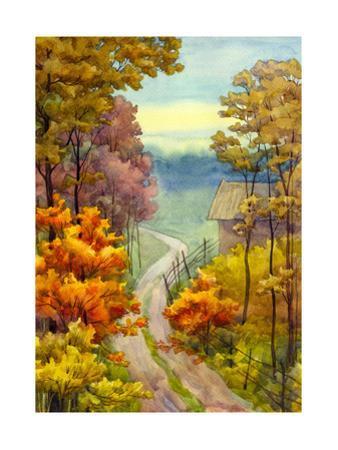 Autumn Road by Marina