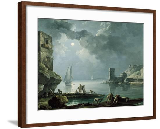 Marina in the Moonlight-Carlo Bonavia-Framed Giclee Print