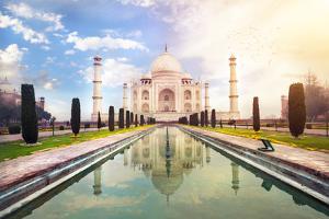 Taj Mahal in India by Marina Pissarova