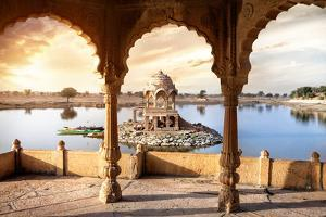 Temple on the Water in India by Marina Pissarova