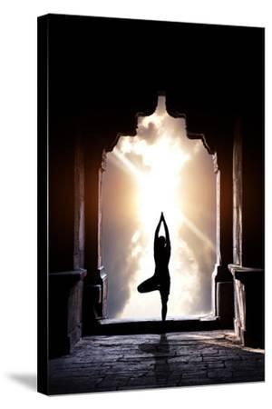 Yoga In Temple by Marina Pissarova