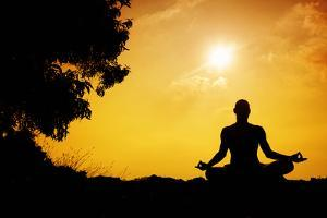 Yoga Meditation Silhouette by Marina Pissarova