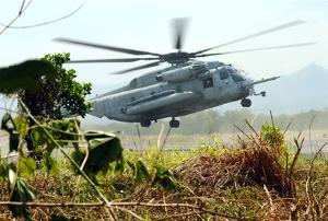Marines Helicopter (Taking Off) Art Poster Print