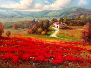 Poppy Fields Afar by Marino