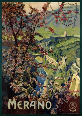 Poster of Merano, printed by Richter and C. Naples, c.1926 by Mario Borgoni