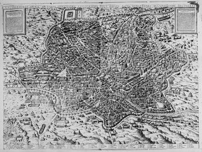 Map of Rome, 1579