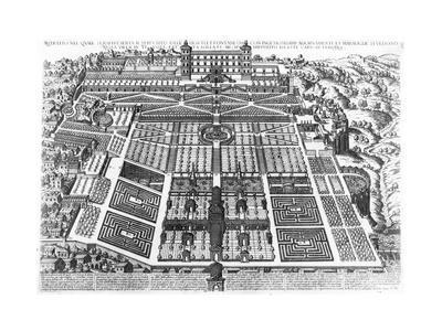 View of the Villa D'Este and Gardens, 1575