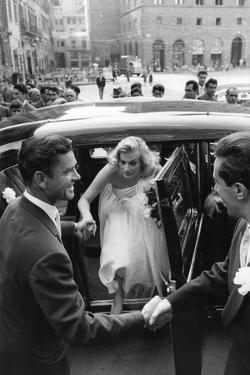 Anthony Steel and Anita Ekberg During their Wedding Day by Mario de Biasi