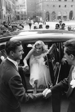 Anthony Steel and Anita Ekberg During their Wedding Day by Mario de Biasi