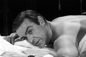 Sean Connery in Bed in a Scene from the Movie Thunderball by Mario de Biasi