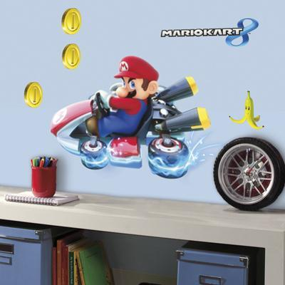 Mario Kart 8 Peel and Stick Giant Wall Decals