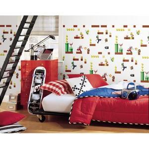 Mario Peel and Stick Wallpaper