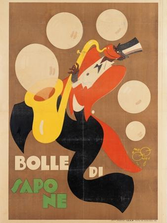 Advertising poster, Soap bubbles by Mario Pompei
