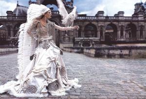 Grafficouture, Raquel Zimmermann, Vogue (Paris) by Mario Sorrenti