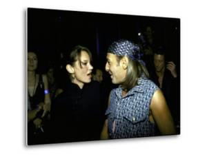 Model Kate Moss and Designer John Galliano at Galliano's Opening of Christian Dior Boutique by Marion Curtis