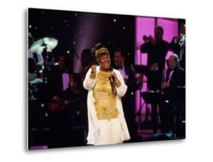 Singer Aretha Franklin Performing at Vh1 Divas Live by Marion Curtis