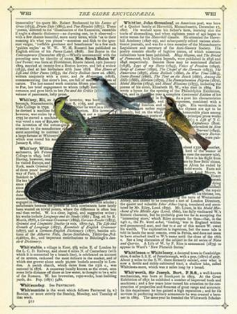Bowler Hat with Birds