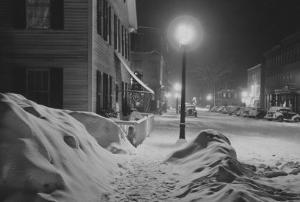 Snowy Night in Woodstock, Vermont by Marion Post Wolcott