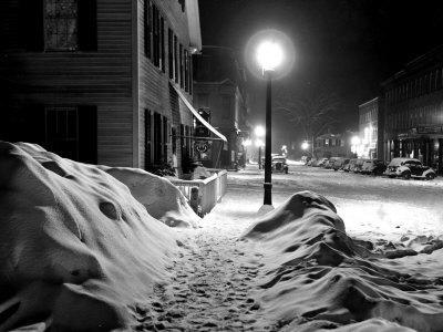 Snowy Night, Woodstock, Vermont, 1940