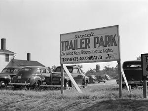 Trailer Park Sign by Marion Post Wolcott