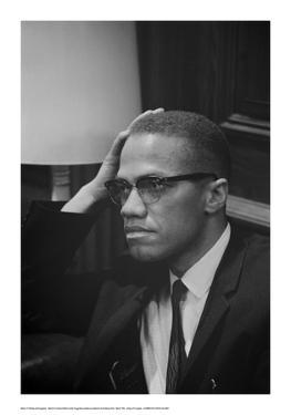 Malcolm X at MLK Press Conference, Washington DC, March, 1964 by Marion S^ Trikosko