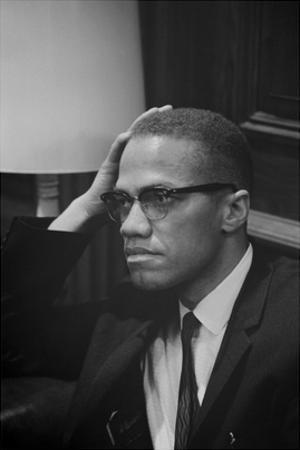 Malcolm X at MLK Press Conference, Washington DC, March, 1964