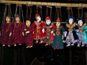 Marionettes for sale at Bagan market, Mandalay Region, Myanmar
