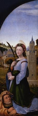 Triptych: Saint Barbara and Her Father Dioscurus, 1500 by Mariotto Albertinelli