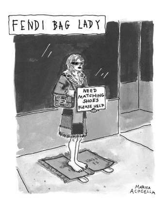 Fendi Bag Lady' - New Yorker Cartoon