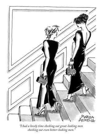 """""""I had a lovely time checking out great-looking men checking out even bett…"""" - New Yorker Cartoon"""