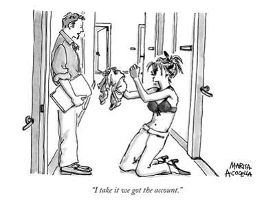 """I take it we got the account."" - New Yorker Cartoon"