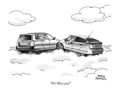 """No! Bless you!"" - New Yorker Cartoon"