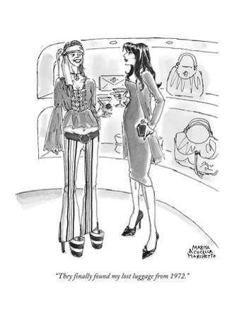 """""""They finally found my lost luggage from 1972."""" - New Yorker Cartoon"""