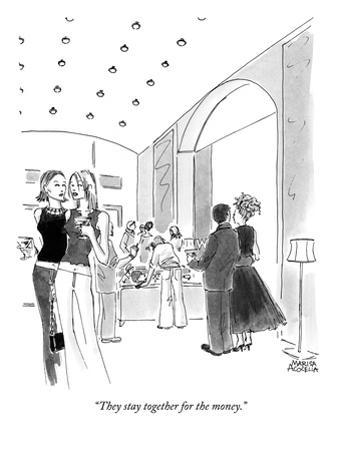 """""""They stay together for the money."""" - New Yorker Cartoon"""