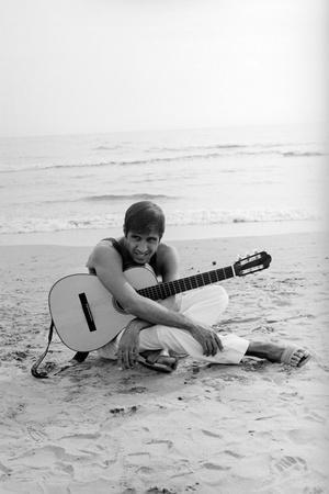 Adriano Celentano on the Sea Shore