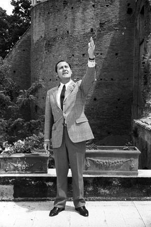 Alberto Sordi in the Terrace of His House
