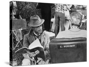 Giancarlo Giannini and Luchino Visconti on the Set of the Innocent by Marisa Rastellini