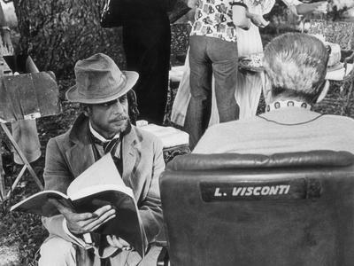 Giancarlo Giannini and Luchino Visconti on the Set of the Innocent