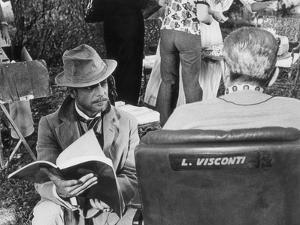 Giancarlo Giannini and Luchino Visconti on the Set of the Innocent by Marisa Rastellini