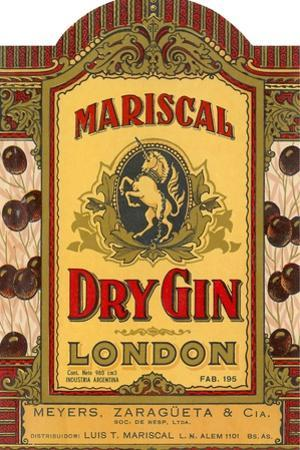 Mariscal Dry Gin Label